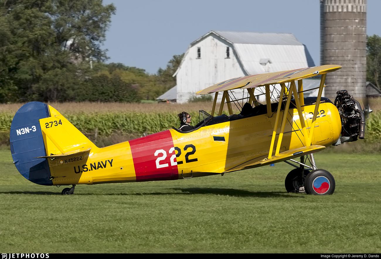 N45222 - Naval Aircraft Factory N3N-3 Yellow Peril - Private