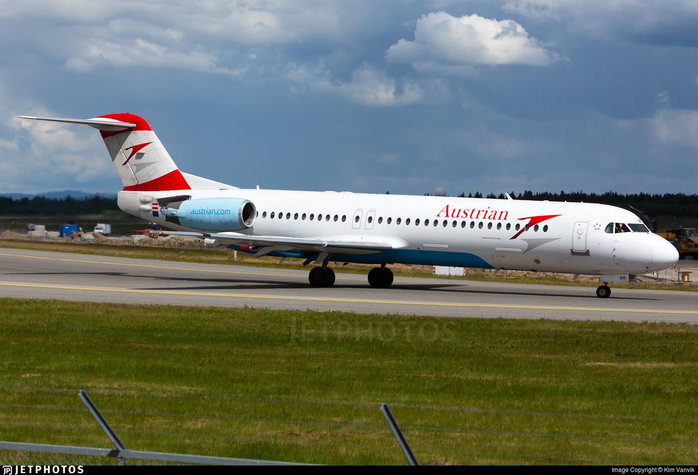 OE-LVH - Fokker 100 - Austrian Airlines (Tyrolean Airways)