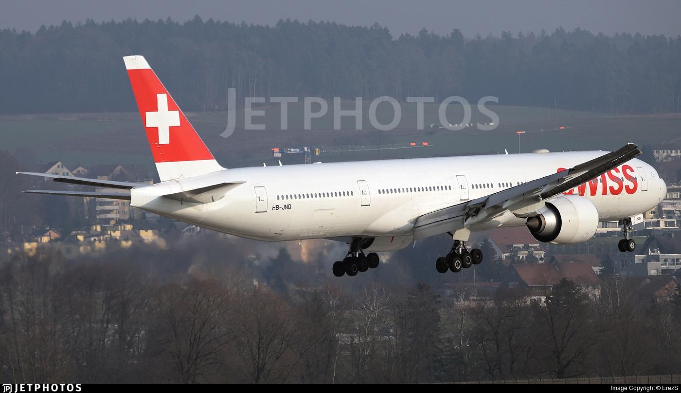 HB-JND - Boeing 777-3DEER - Swiss