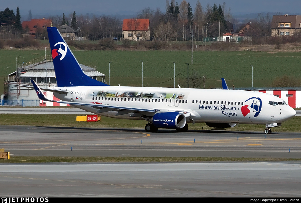 OK-TVL - Boeing 737-8FN - Travel Service