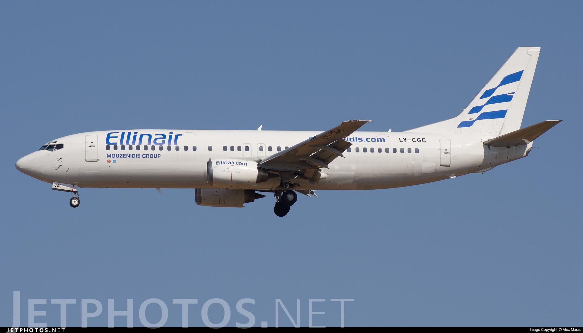 LY-CGC - Boeing 737-4Y0 - Ellinair (Grand Cru Airlines)