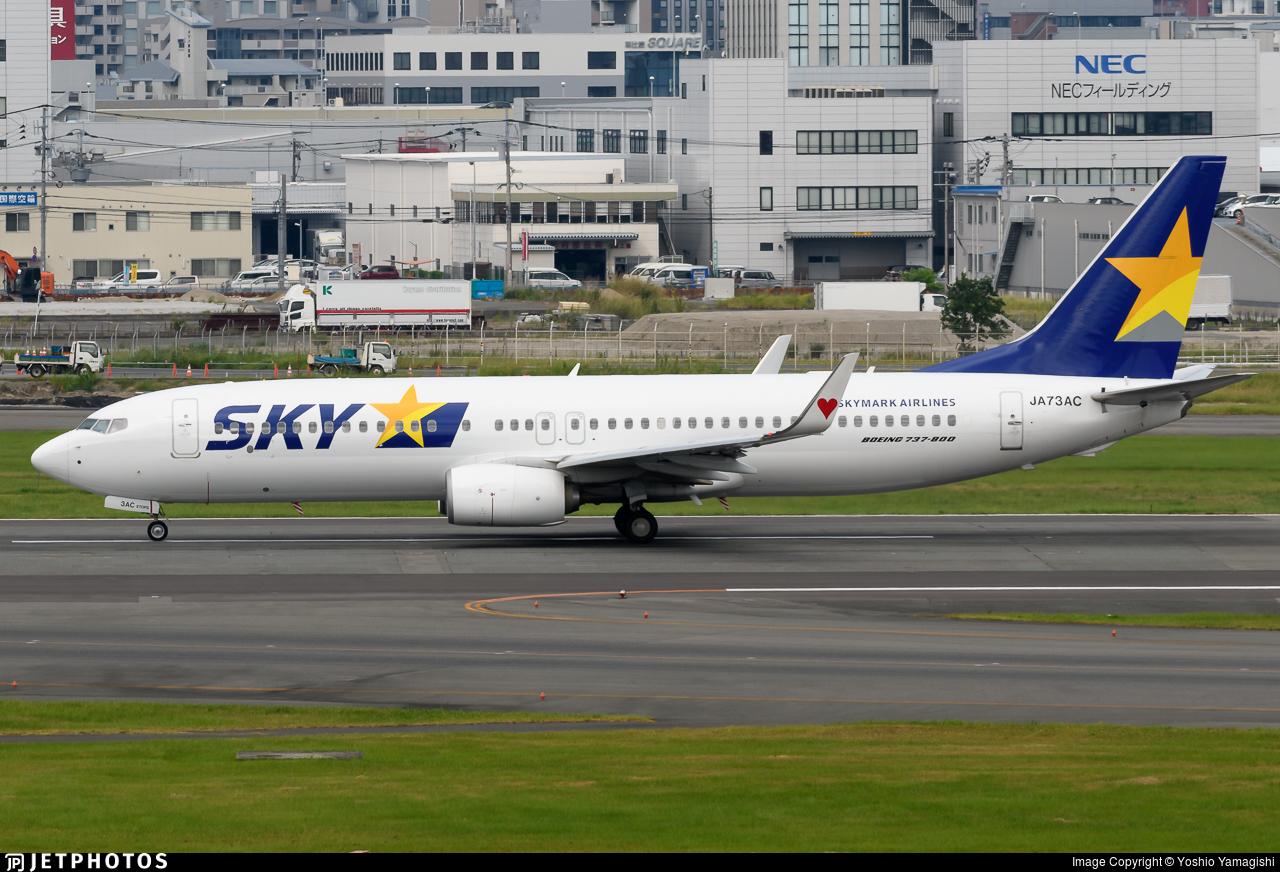 JA73AC - Boeing 737-8AL - Skymark Airlines