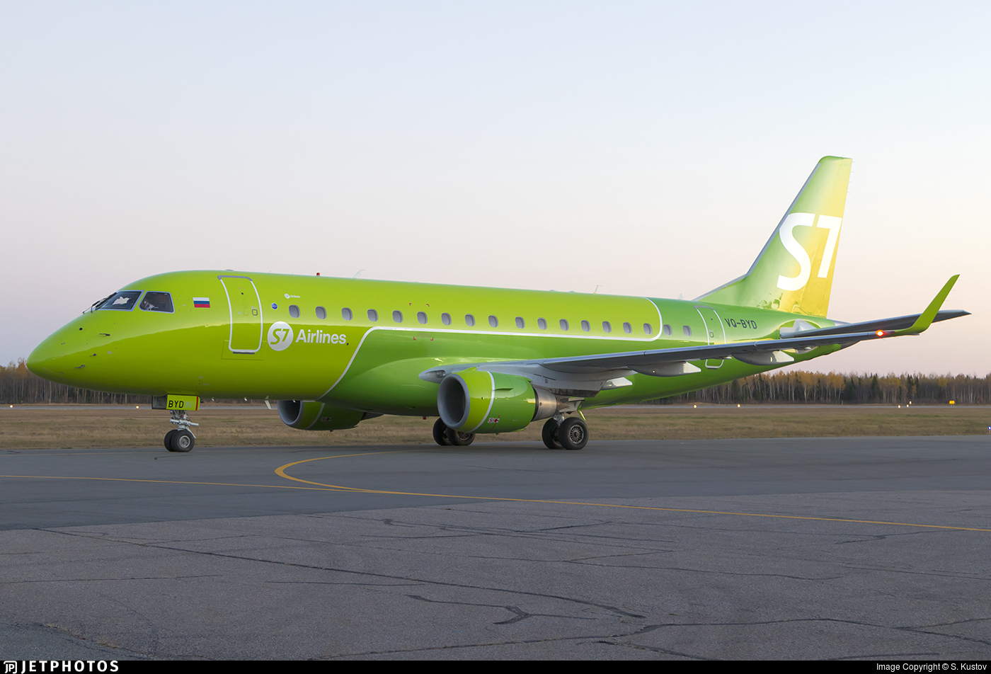 VQ-BYD - Embraer 170-100SU - S7 Airlines