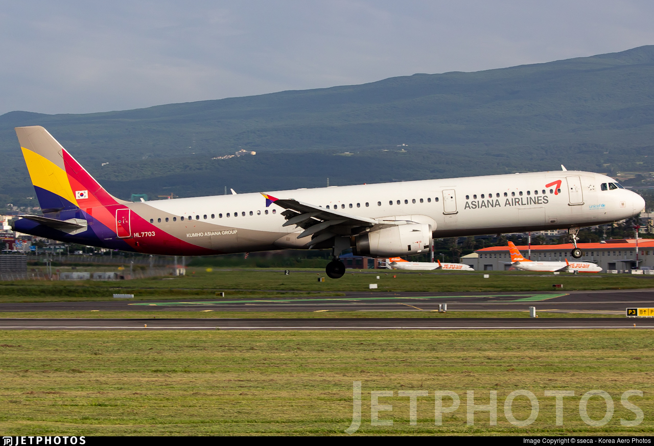 HL7703 - Airbus A321-131 - Asiana Airlines