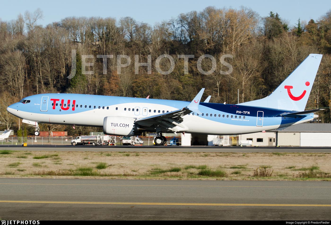 PH-TFN | Boeing 737-8 MAX | TUI | PrestonFiedler | JetPhotos