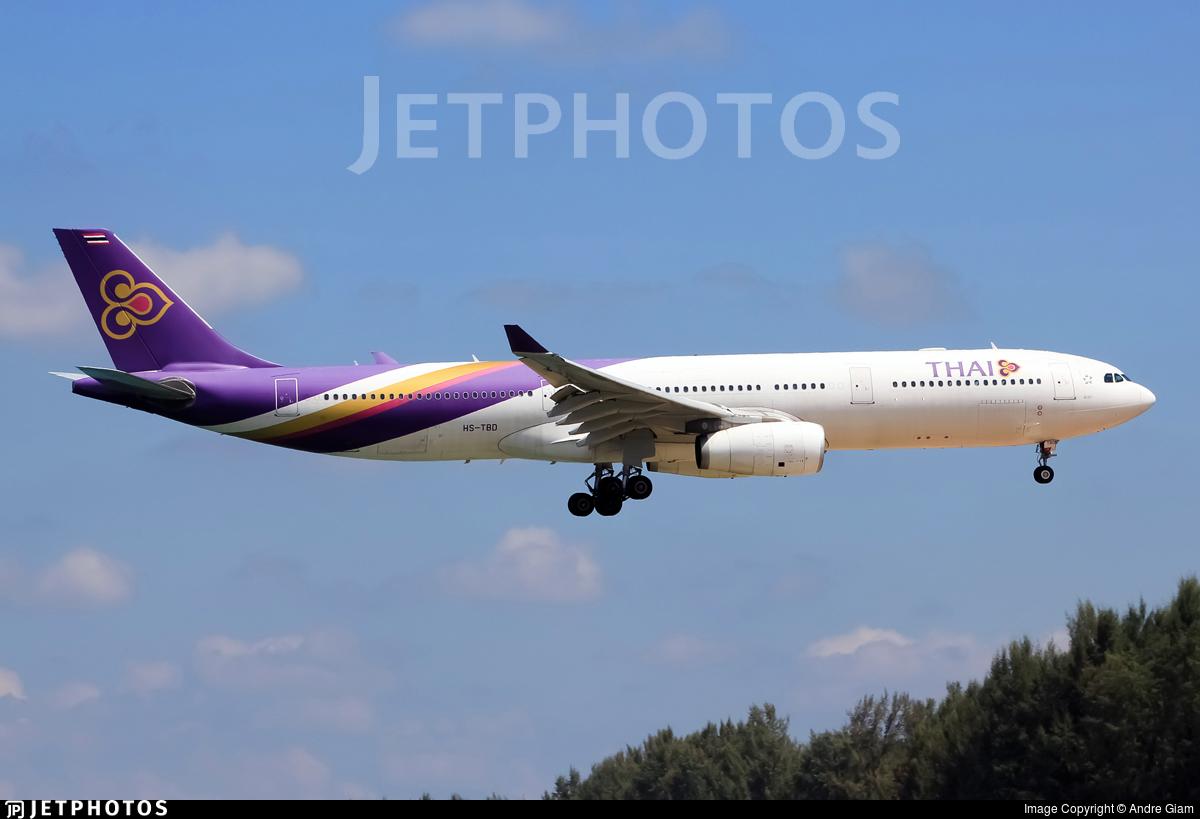 HS-TBD - Airbus A330-343 - Thai Airways International