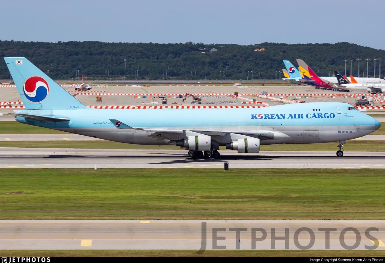 HL7603 - Boeing 747-4B5ERF - Korean Air Cargo