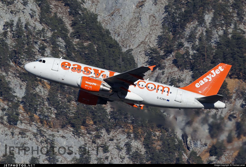 G-EZBH - Airbus A319-111 - easyJet