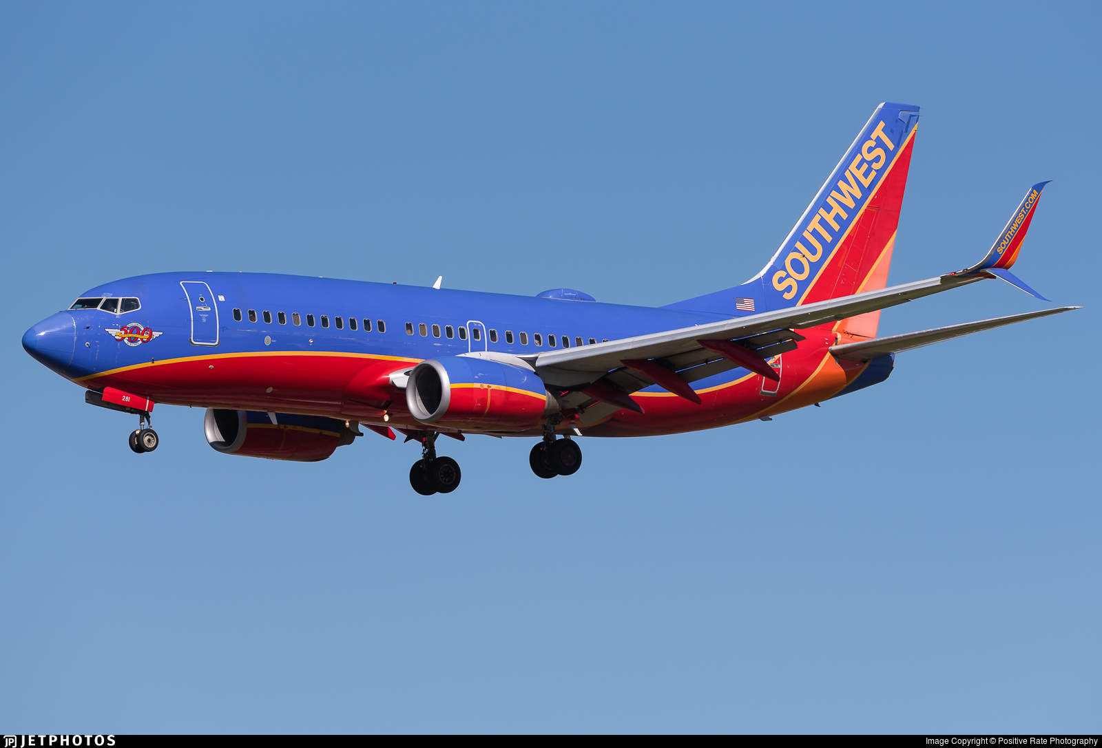 N281WN - Boeing 737-7H4 - Southwest Airlines
