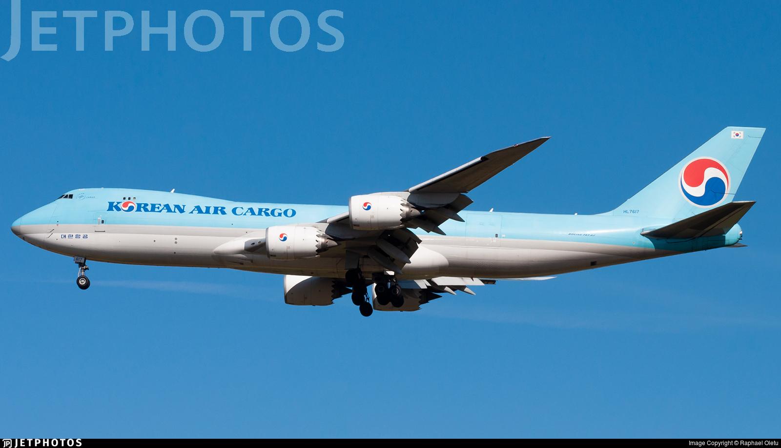 HL7617 - Boeing 747-8B5F - Korean Air Cargo