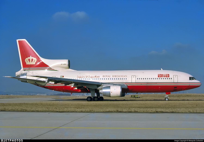 JY-AGA - Lockheed L-1011-500 Tristar - Alia - The Royal Jordanian Airline