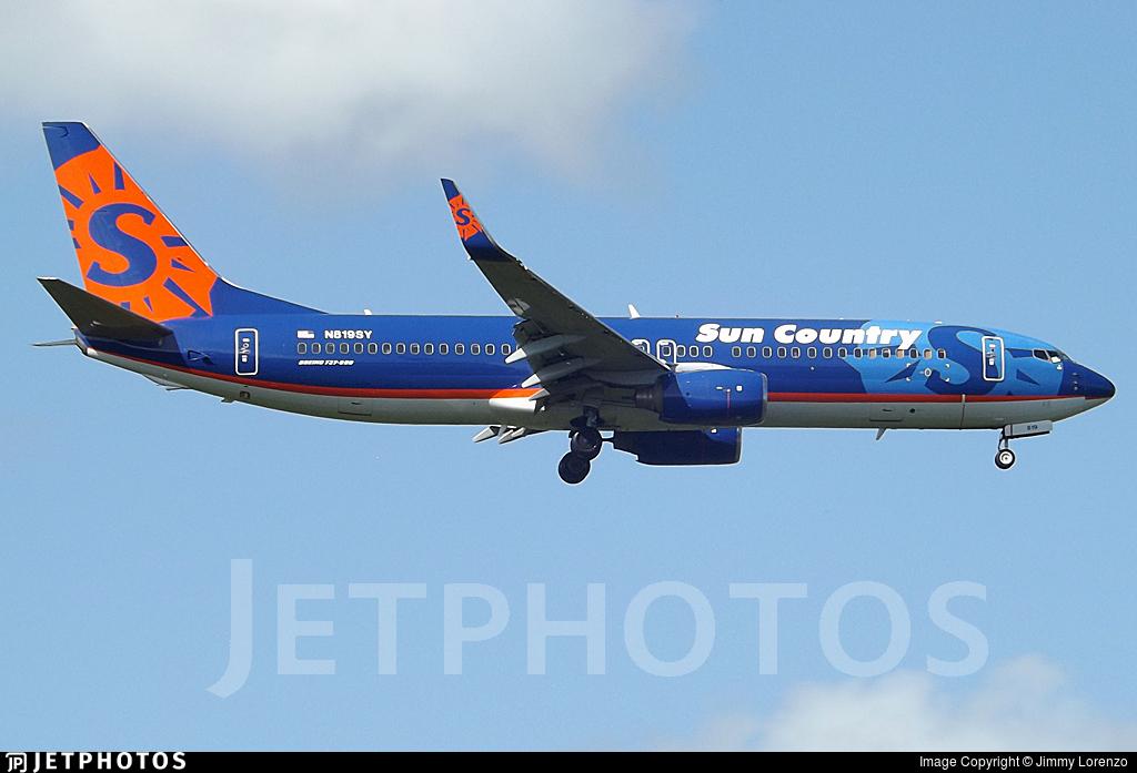 N819SY - Boeing 737-86N - Sun Country Airlines