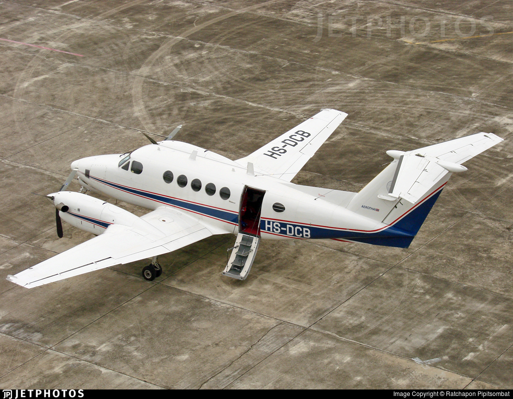 HS-DCB - Beechcraft 200 Super King Air - Thailand - Aeronautical Radio of Thailand (Aerothai)