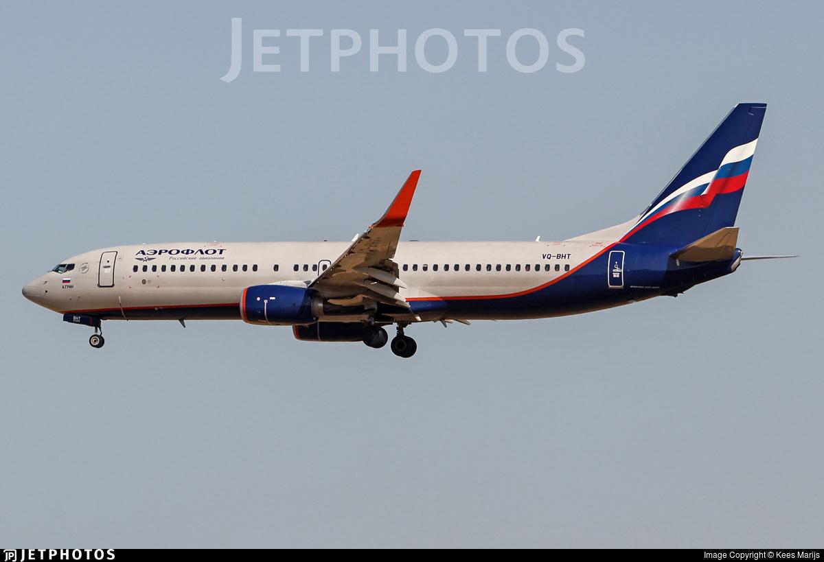 VQ-BHT - Boeing 737-8LJ - Aeroflot
