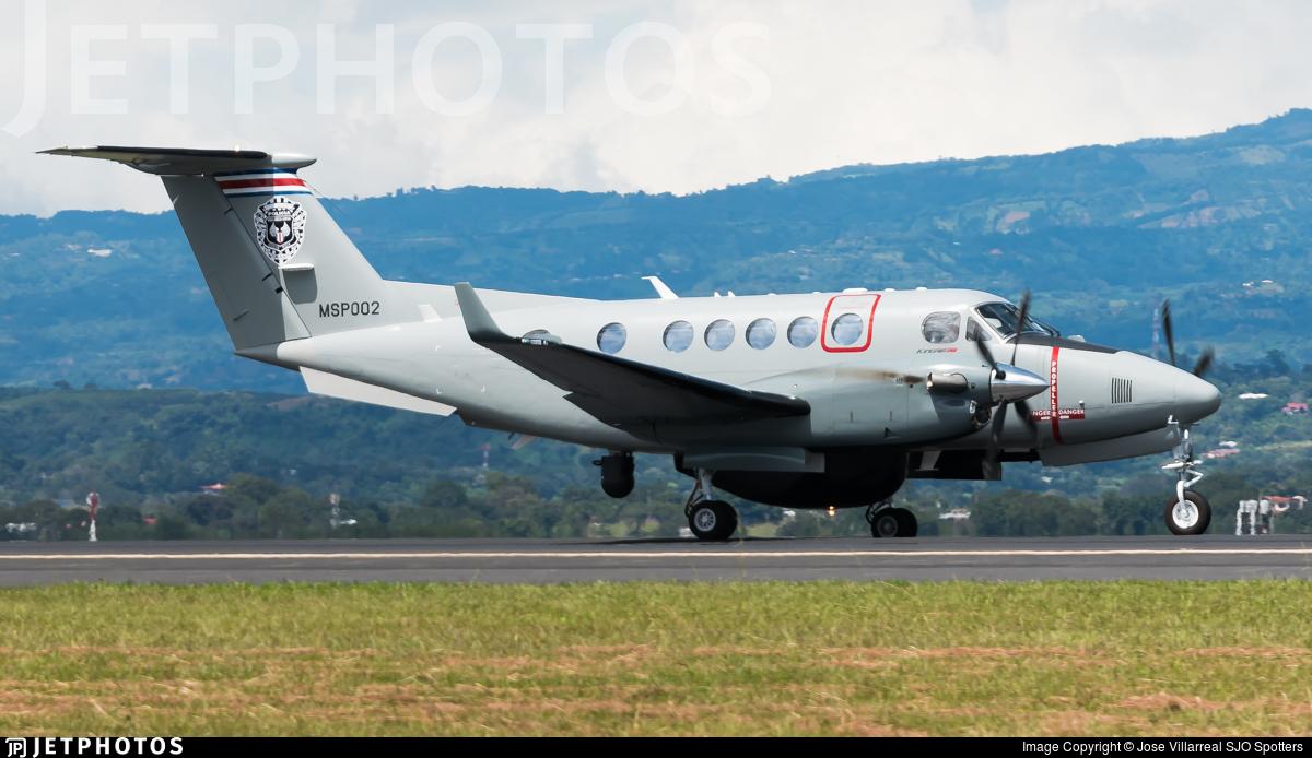 MSP002 - Beechcraft B200GT Super King Air - Costa Rica - Ministry of Public Security