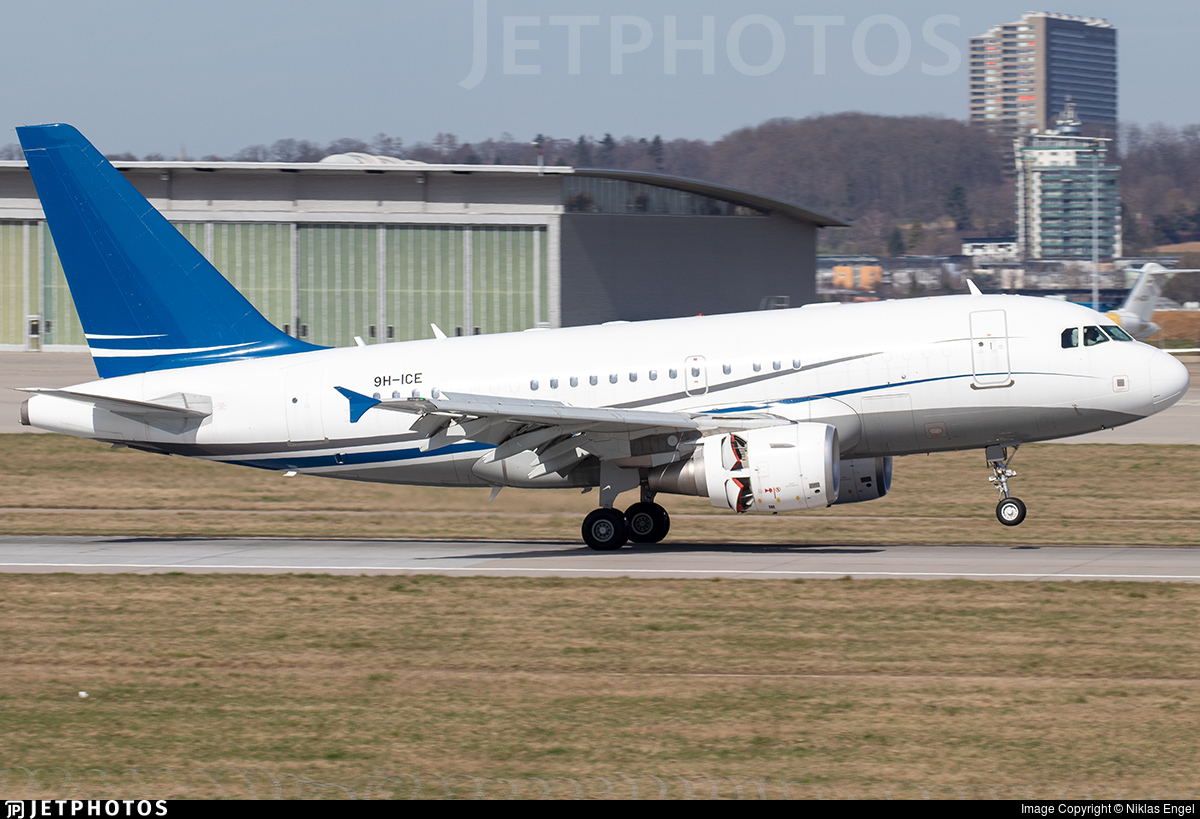 9H-ICE - Airbus A318-112(CJ) Elite - DC Aviation