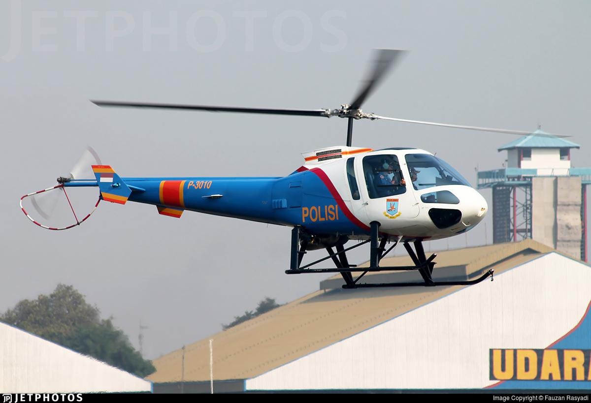 P-3010 - Enstrom 480B - Indonesia - Police