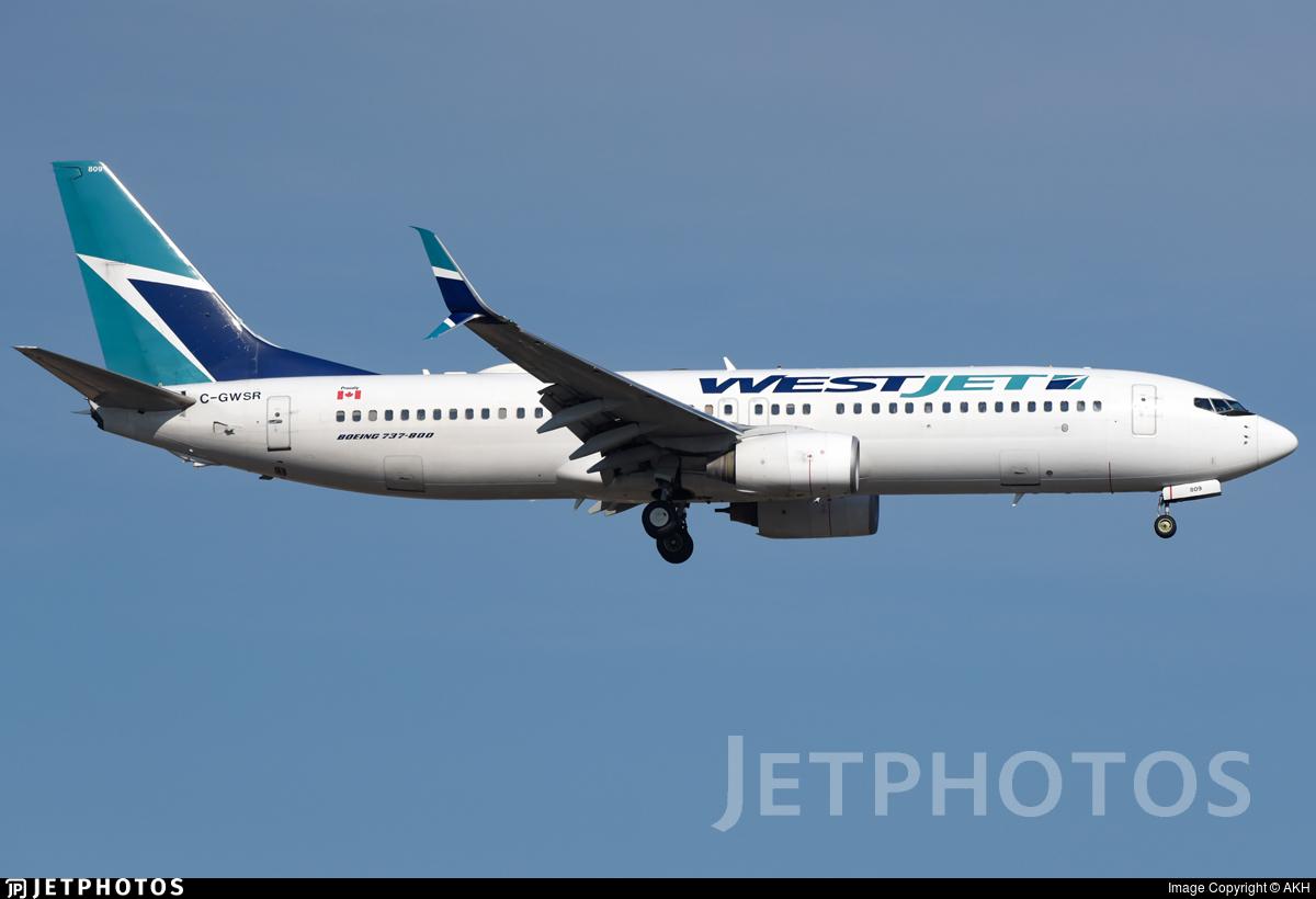 C-GWSR - Boeing 737-8CT - WestJet Airlines