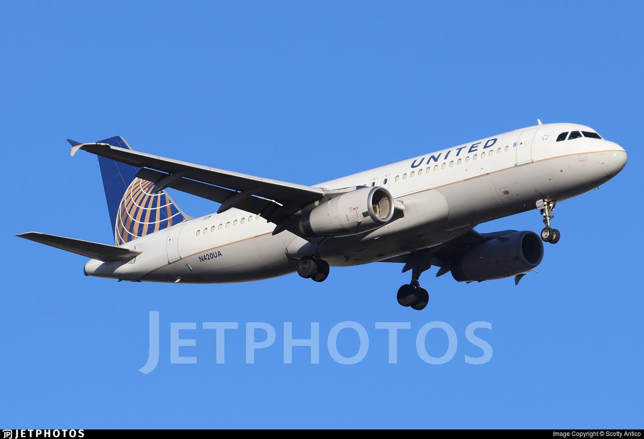 N420UA - Airbus A320-232 - United Airlines