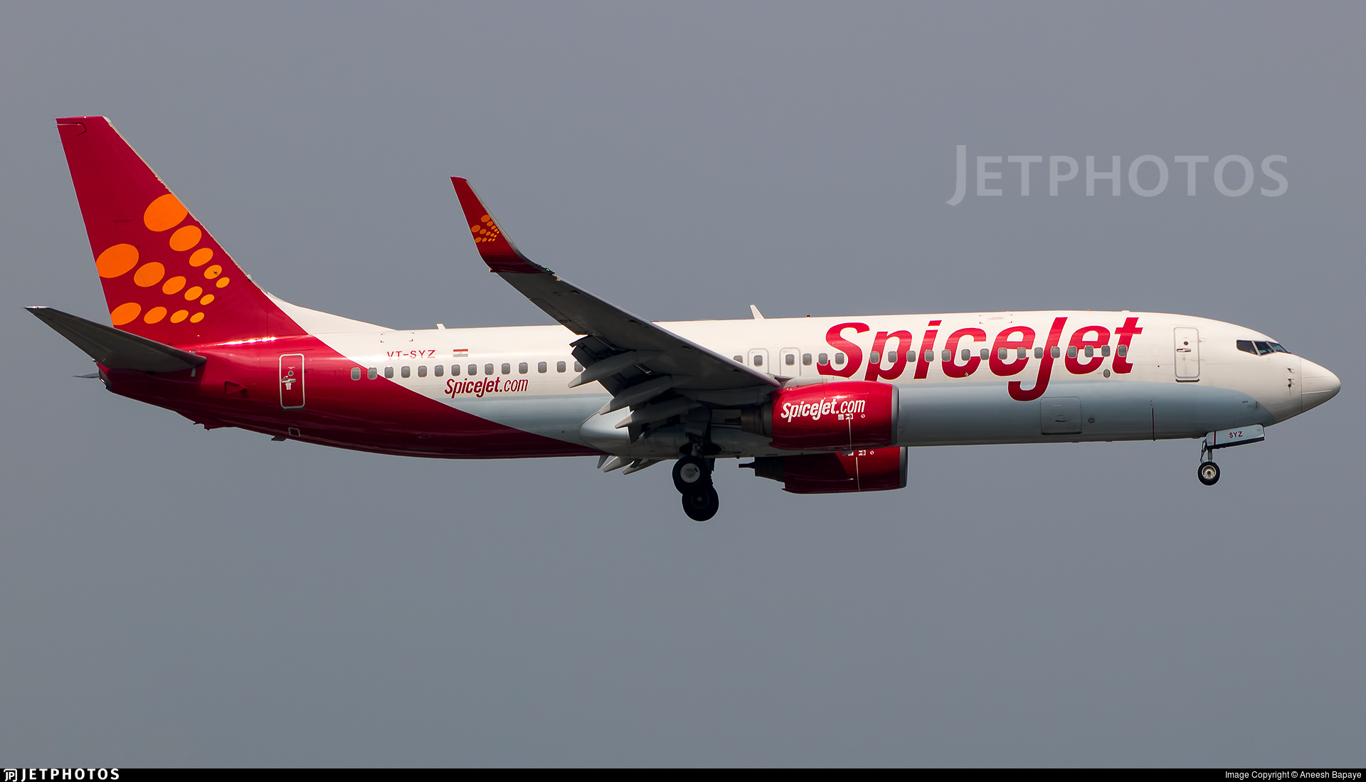 VT-SYZ - Boeing 737-85R - SpiceJet