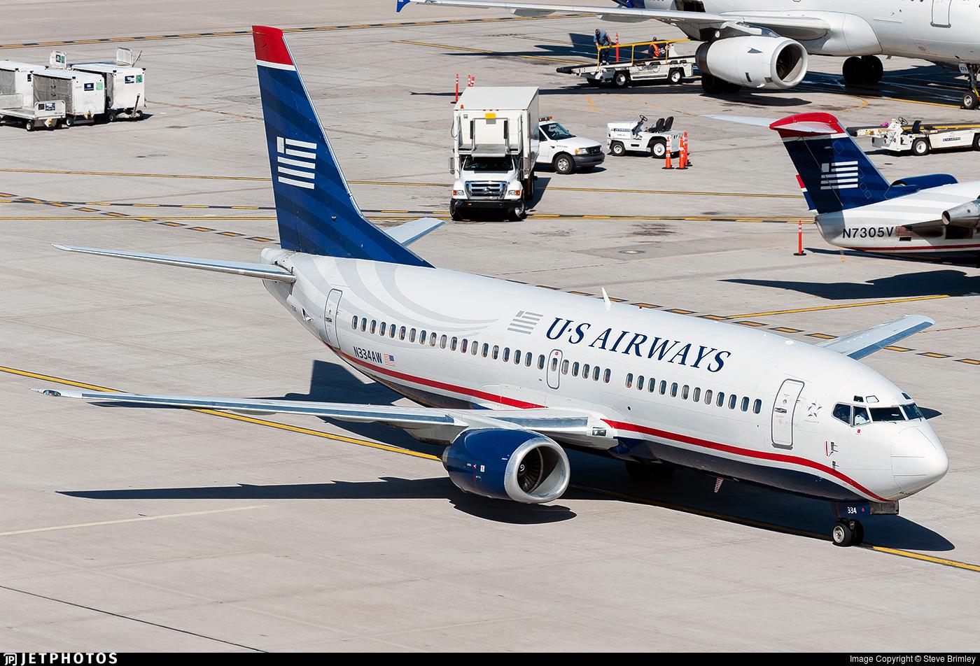 N334AW - Boeing 737-3Y0 - US Airways