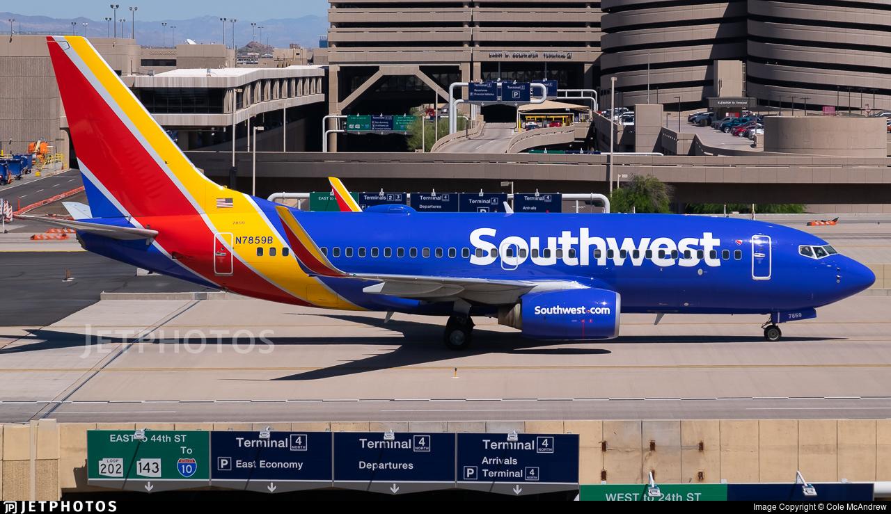 N7859B - Boeing 737-7Q8 - Southwest Airlines