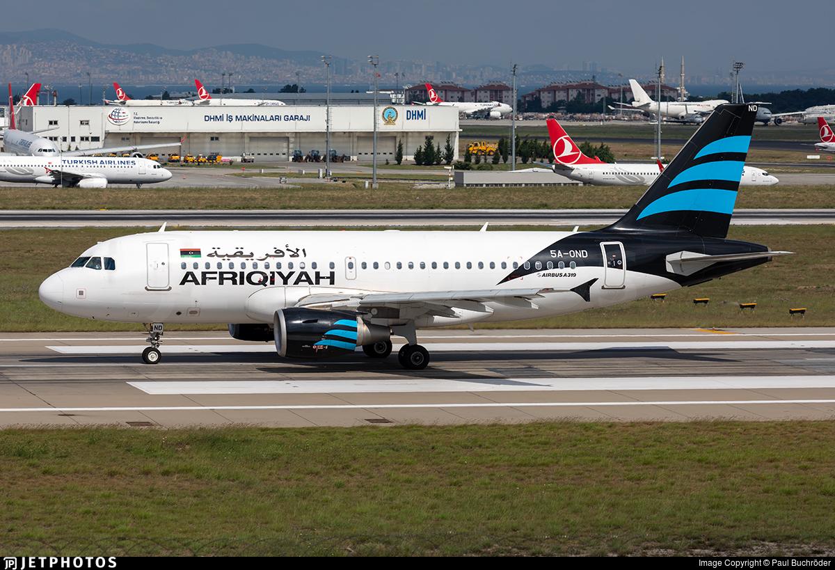 5A-OND - Airbus A319-111 - Afriqiyah Airways