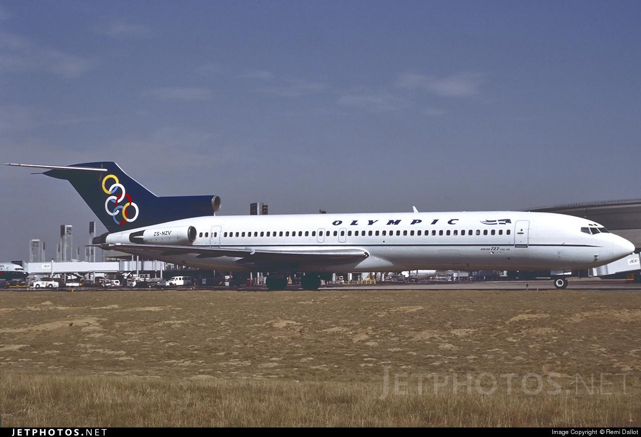 ZS-NZV - Boeing 727-230(Adv) - Olympic Airways