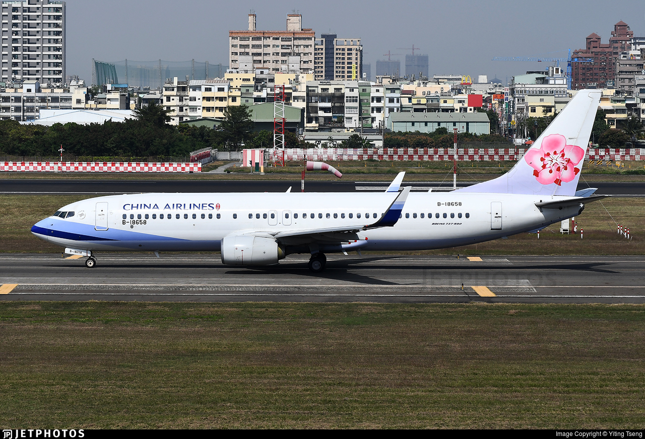 B-18658 - Boeing 737-809 - China Airlines