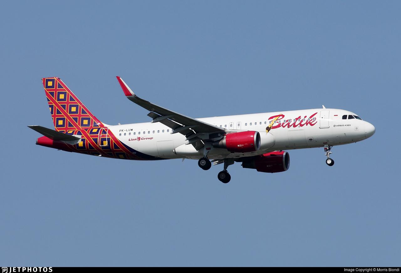 PK-LUW - Airbus A320-214 - Batik Air