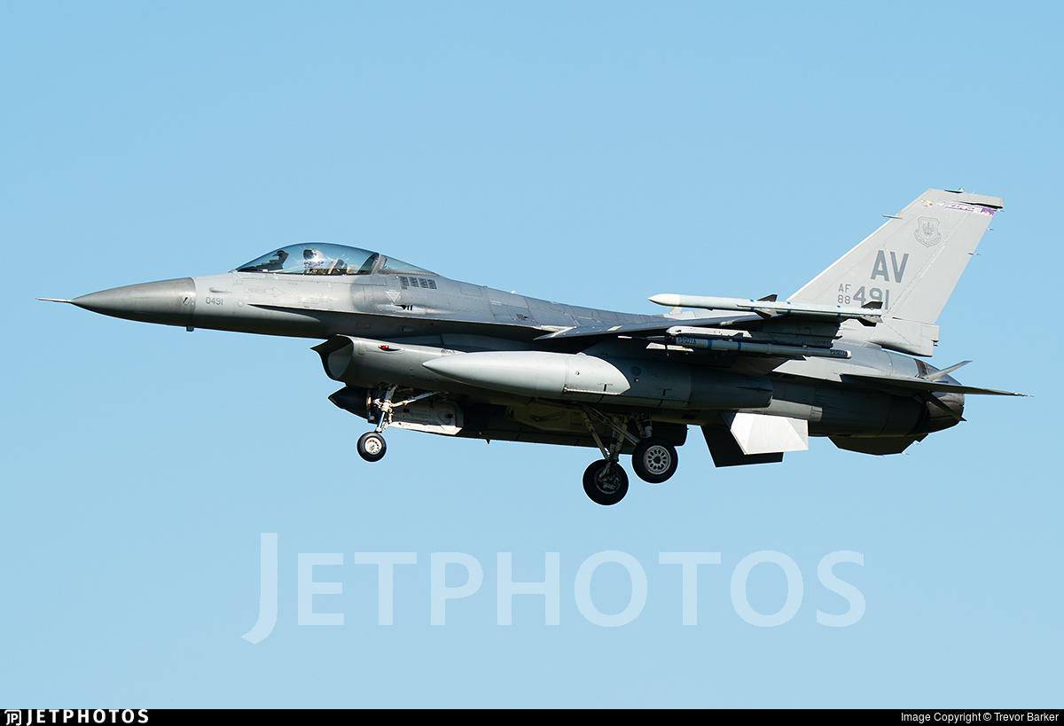 88-0491 - General Dynamics F-16CG Fighting Falcon - United States - US Air Force (USAF)
