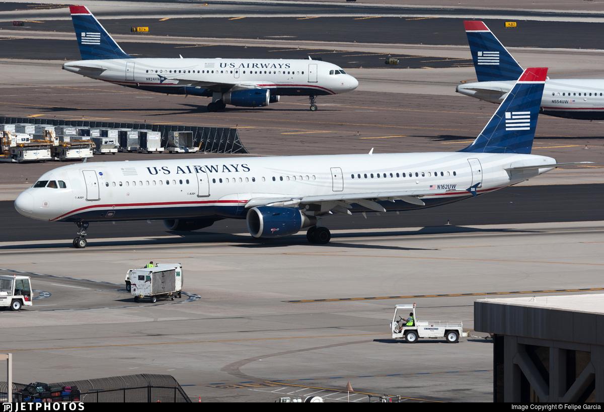 N162UW - Airbus A321-211 - US Airways