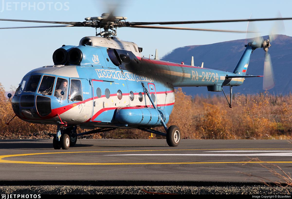 RA-24734 - Mil Mi-8AMT - Norilsk Avia