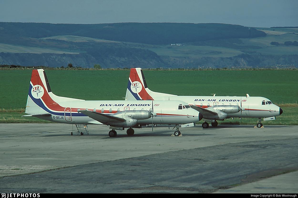 G-BEJE - Hawker Siddeley HS-748 - Dan-Air London
