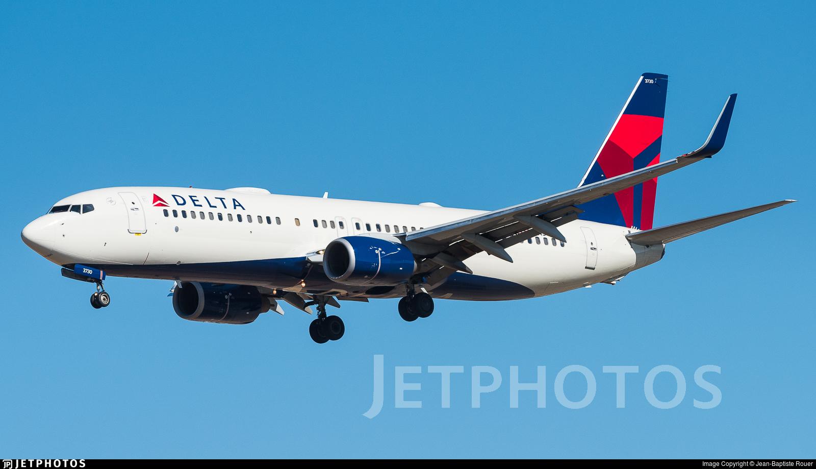 N3730B - Boeing 737-832 - Delta Air Lines