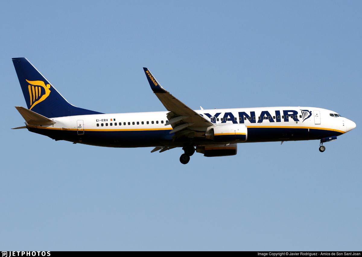 EI-EBV - Boeing 737-8AS - Ryanair