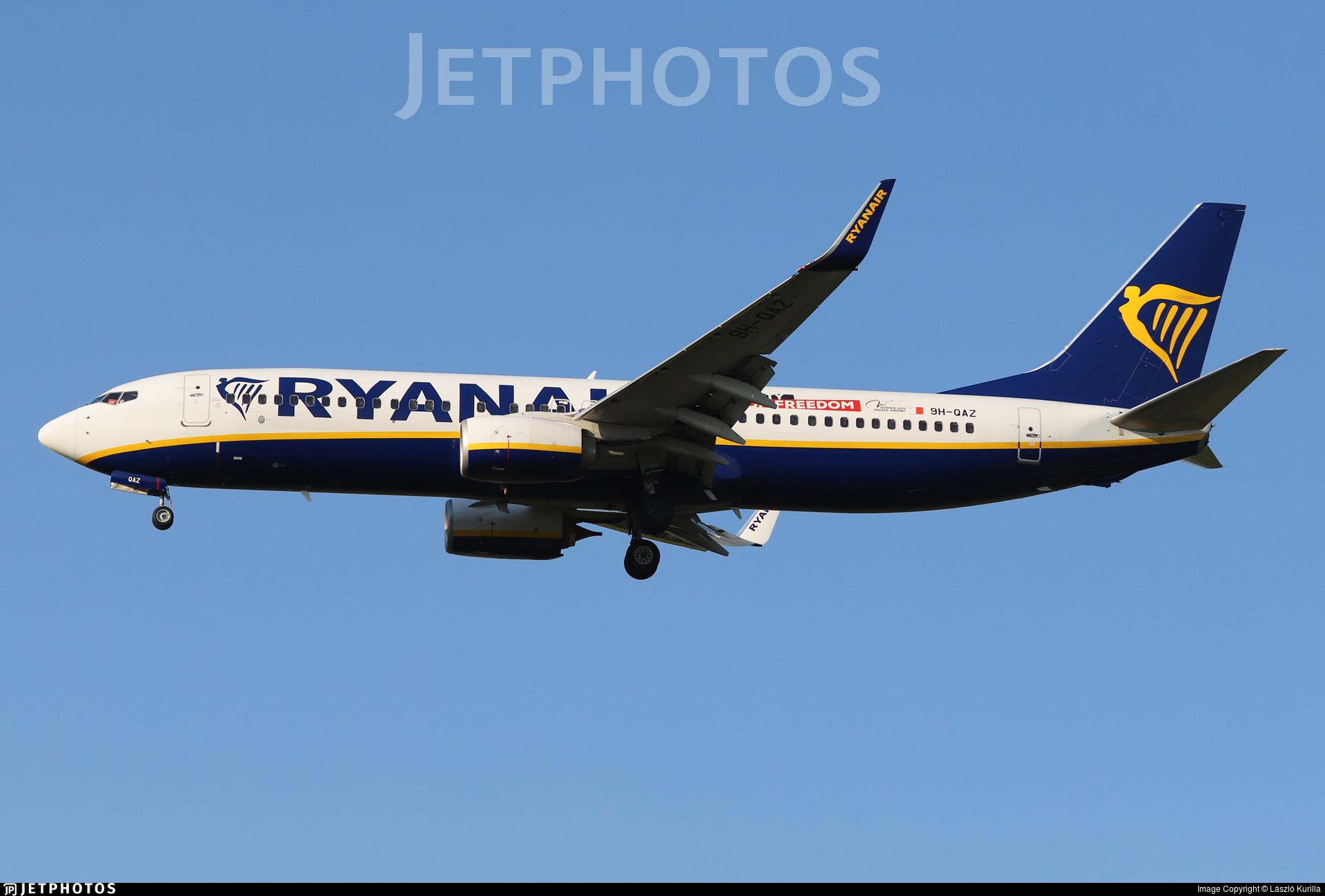 9H-QAZ - Boeing 737-8AS - Ryanair (Malta Air)