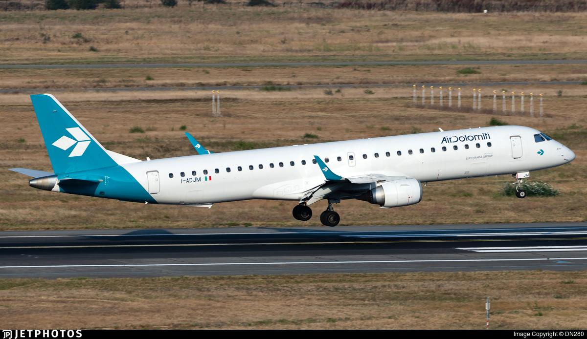 I-ADJM - Embraer 190-200LR - Air Dolomiti