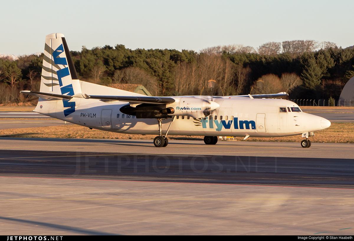 PH-VLM - Fokker 50 - Denim Air