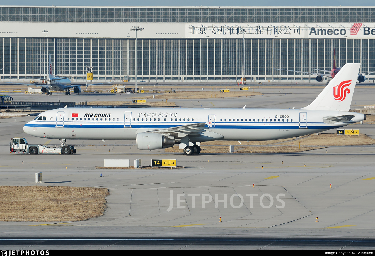 B-6593 - Airbus A321-213 - Air China