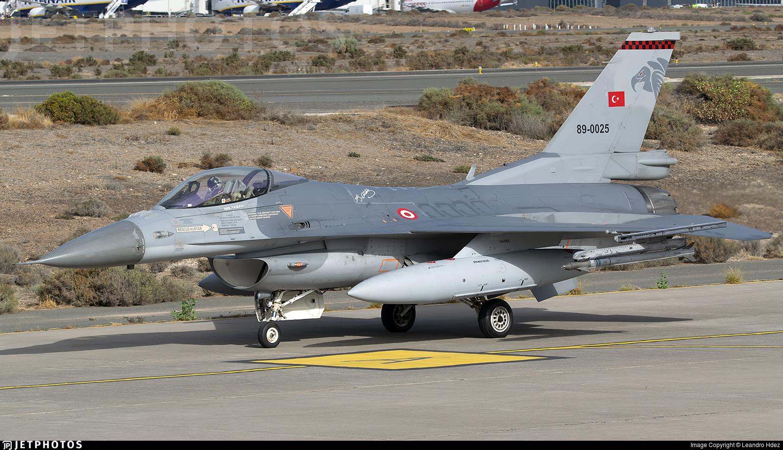 89-0025 - General Dynamics F-16C Fighting Falcon - Turkey - Air Force
