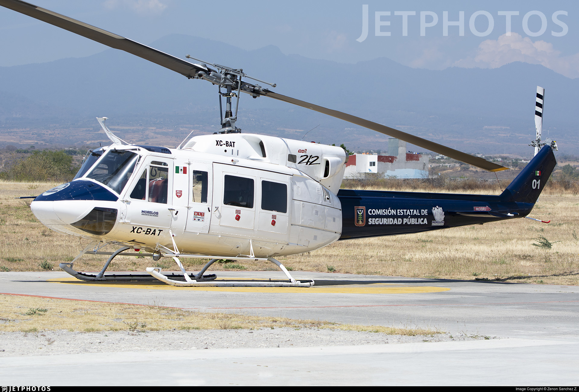 XC-BAT - Bell 212 - Mexico - Morelos State Government