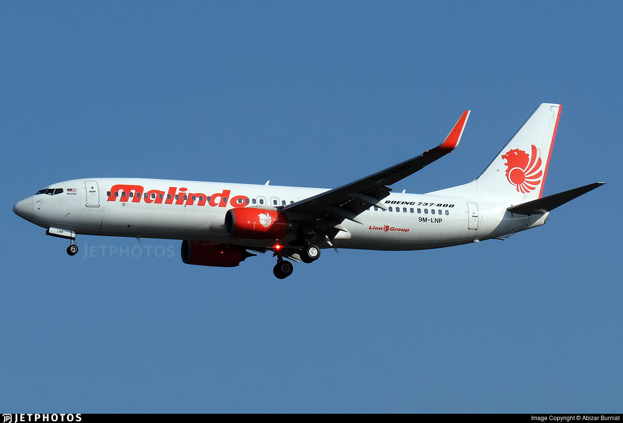 9M-LNP - Boeing 737-8GP - Malindo Air
