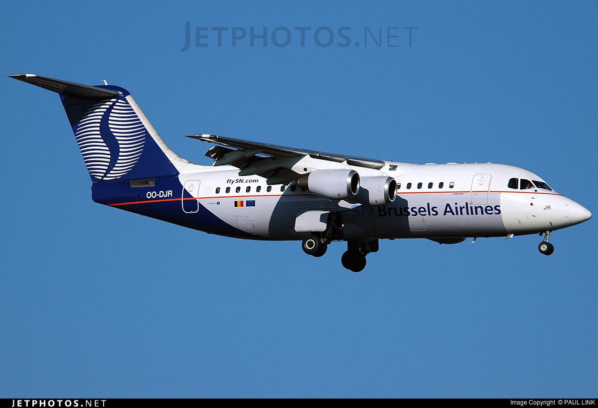 OO-DJR - British Aerospace Avro RJ85 - SN Brussels Airlines