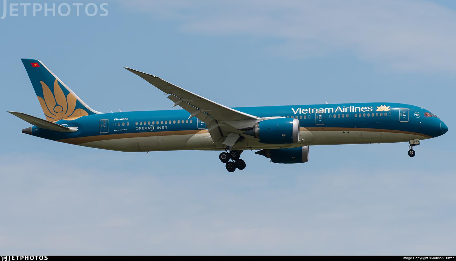 VN-A863 - Boeing 787-9 Dreamliner - Vietnam Airlines