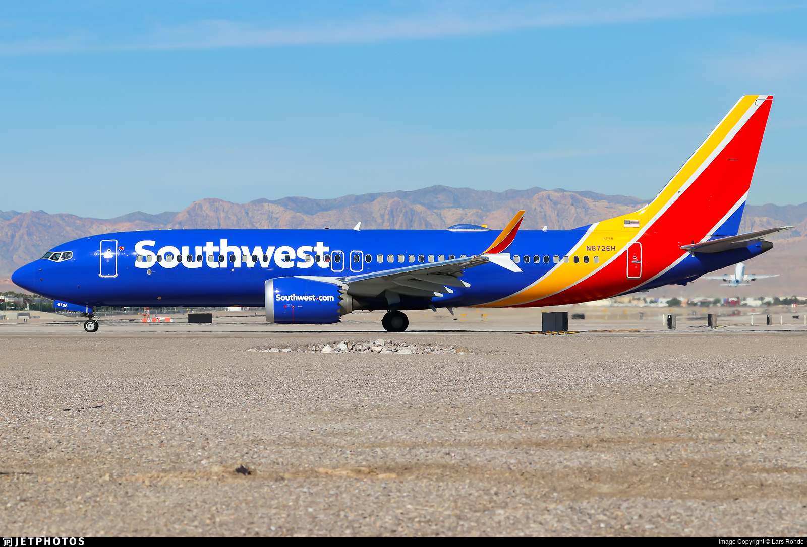 N8726H - Boeing 737-8 MAX - Southwest Airlines