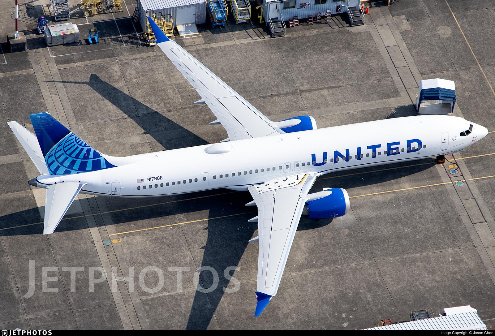 N1780B - Boeing 737-9 MAX - United Airlines