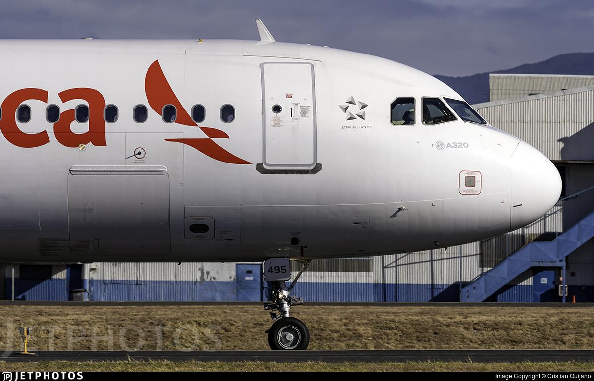 N495TA - Airbus A320-233 - Avianca Central America