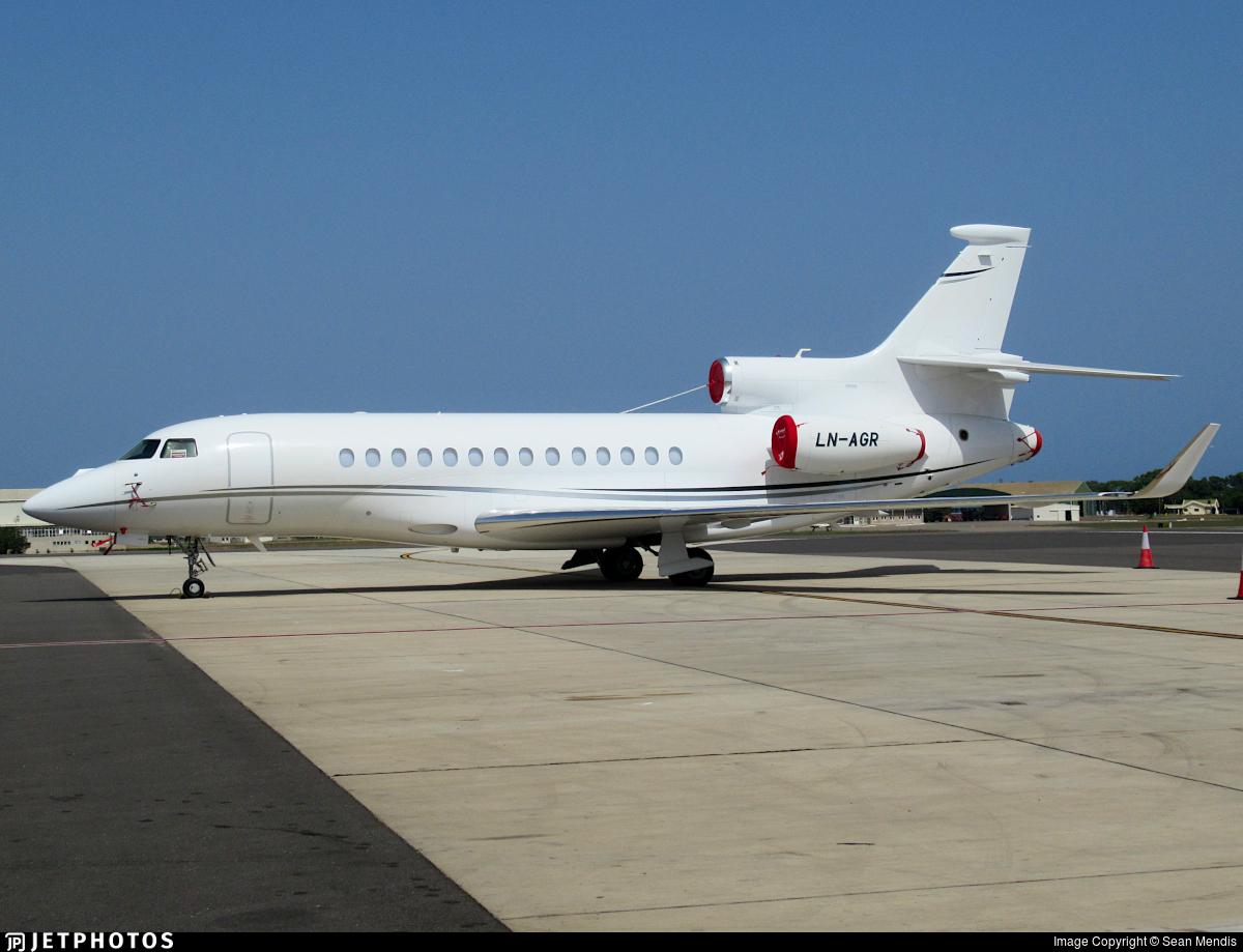 LN-AGR - Dassault Falcon 7X - Sundt Air
