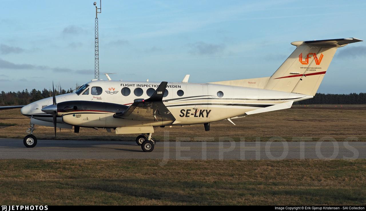 SE-LKY - Beechcraft B200 Super King Air - Sweden - Flight Inspection